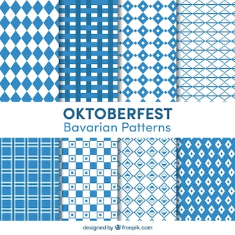 Collection of geometric patterns for oktoberfest