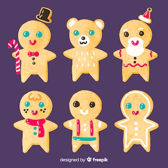 Collection of gingerbread cookies