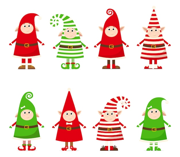クリスマス衣装のノームのコレクション