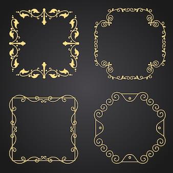 金の装飾的なボーダーのコレクション