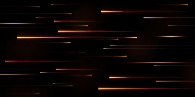 Коллекция золотых скоростных линий изолированные золотой свет электрический свет световой эффект png Premium векторы