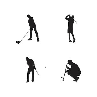 골프 선수 실루엣의 컬렉션