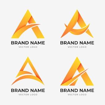 Коллекция градиента шаблона логотипа