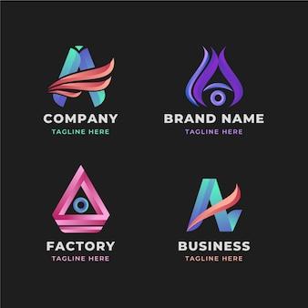 グラデーションロゴのコレクション