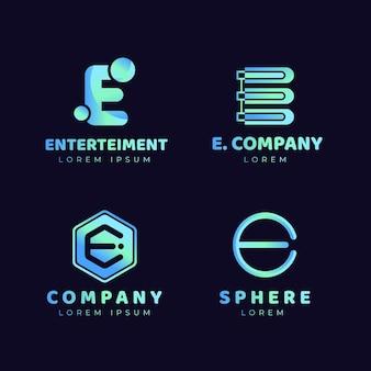 Коллекция шаблонов логотипов gradient o