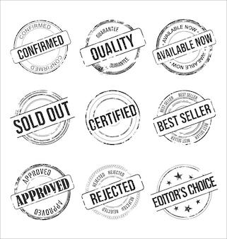 지저분한 고무 우표 빈티지 디자인의 컬렉션