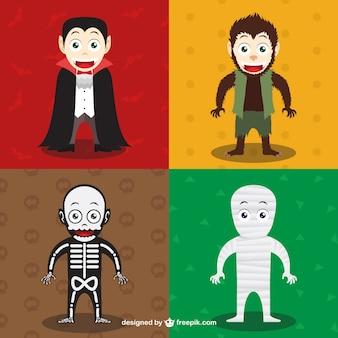 ハロウィーンのキャラクターのコレクション