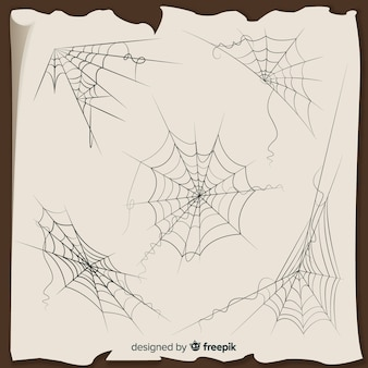 Collection of halloween cobwebs