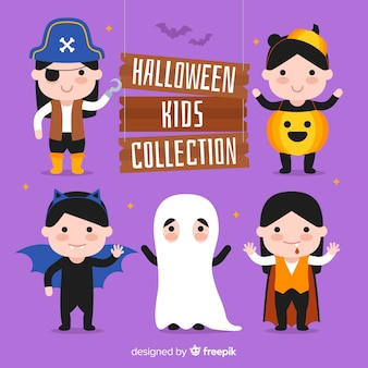 Collection of halloween kids