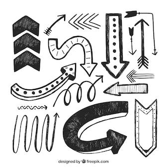 手描きの矢印のコレクション