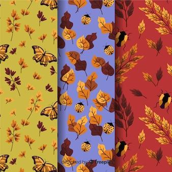 손으로 그린가 패턴의 컬렉션
