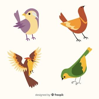 Коллекция рисованной птиц