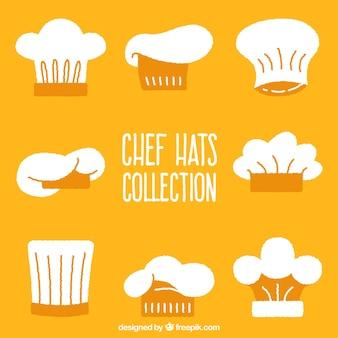 손으로 그린 요리사 모자 컬렉션