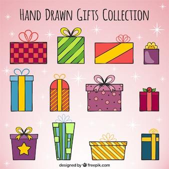クリスマスを描かれた手のコレクション