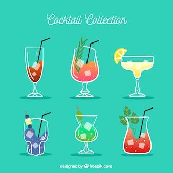 Коллекция рисованного коктейля