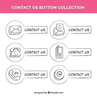 手描き接触ボタンのコレクション