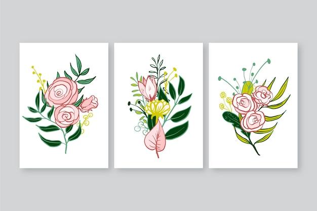 手描きの花のカバーのコレクション