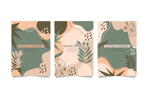 Коллекция рисованной цветочных обложек