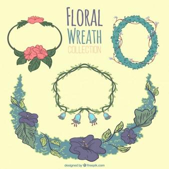 手描きの花の花輪のコレクション