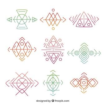 Коллекция рукописных геометрических фигур