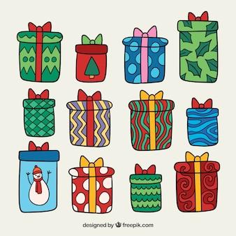 Коллекция подарочных подарочных коробок