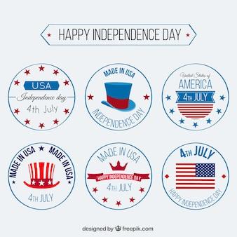 Коллекция рисованной день независимости знак