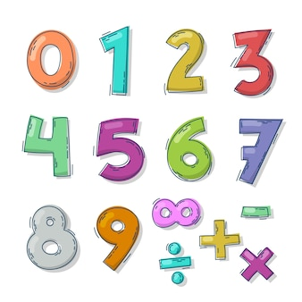 손으로 그린 수학 기호 컬렉션