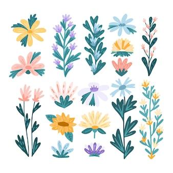 Коллекция цветов с ручной росписью