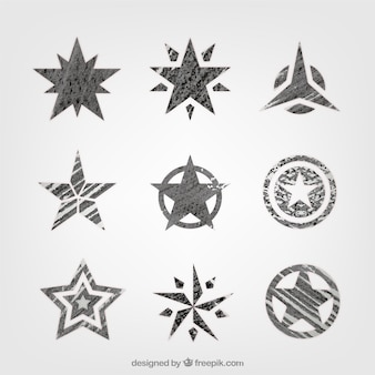 Collection of hand-painted stars