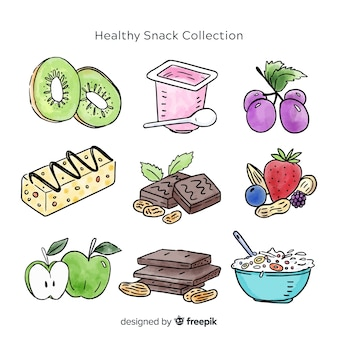 Collection of healthy snacks