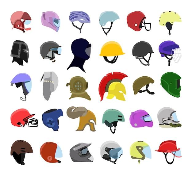 ヘルメットのコレクション
