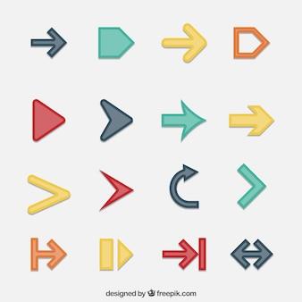 インフォグラフィックの矢の収集