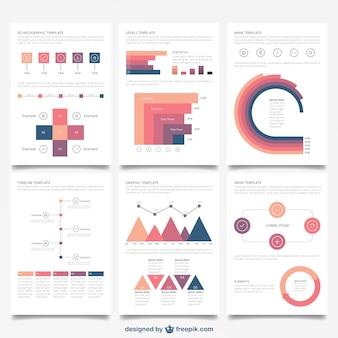 Коллекция инфографики брошюры