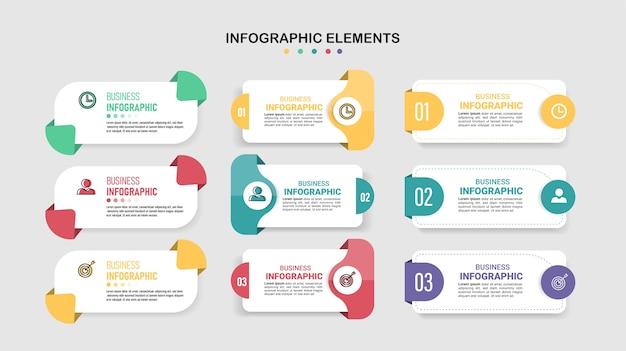インフォグラフィックデザインのコレクション