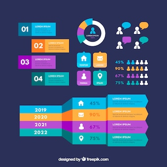 Collection of infographic elements