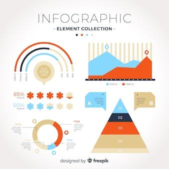 인포 그래픽 요소의 컬렉션
