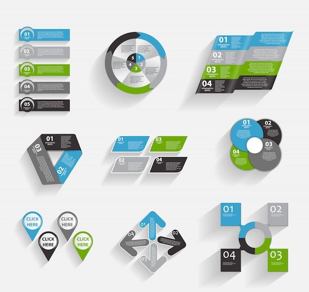 ビジネスのためのインフォグラフィックテンプレートのコレクション