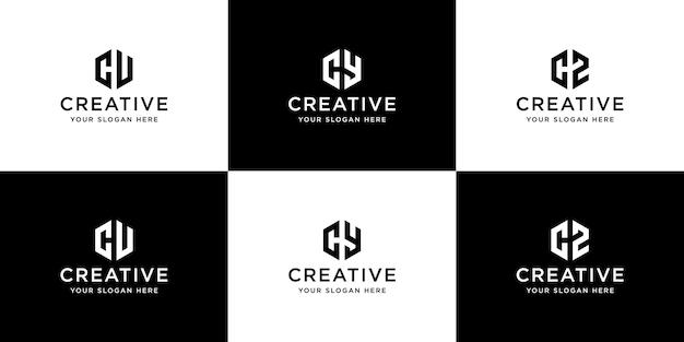 Коллекция инициалов логотипа шаблона