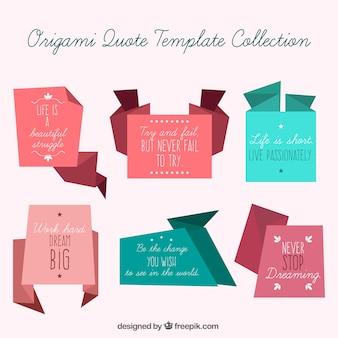 Коллекция вдохновляющие цитаты в стиле оригами