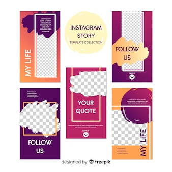 Collection of instagram stories templates