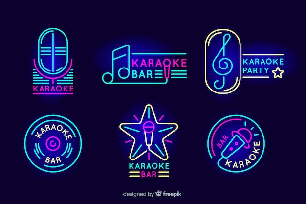 노래방 네온 불빛의 컬렉션