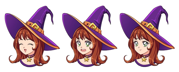 Коллекция кавайных ведьм