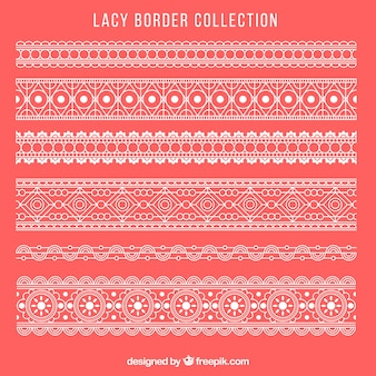 レースの装飾的な国境のコレクション