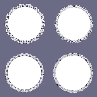 Collection of lace styled circular backgrounds