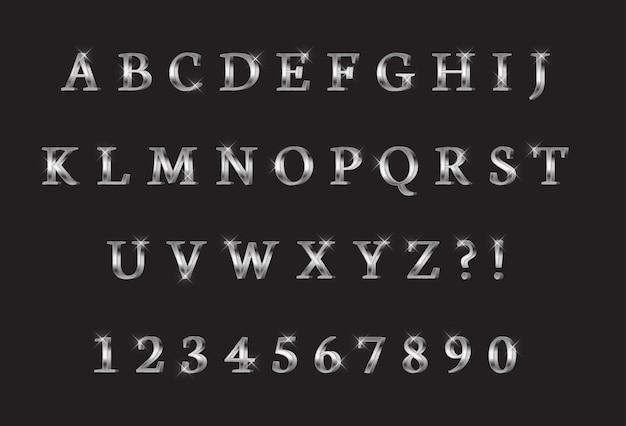 文字と数字のコレクション