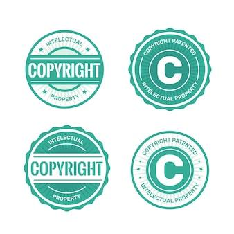 ライセンスされた著作権スタンプのコレクション