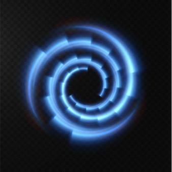 라이트 블루 하프톤 라인의 컬렉션 속도 벡터 일러스트 레이 션의 방사형 블루 벡터 라인