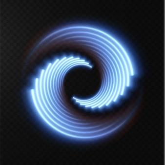 Коллекция светло-голубых полутоновых линий радиальных синих векторных линий скорости векторная иллюстрация