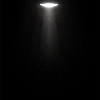 Коллекция световых лучей изолированы. набор световых прожекторов