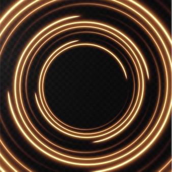 淡黄色のハーフトーンラインのコレクション速度の放射状の金のベクトル線ベクトル図